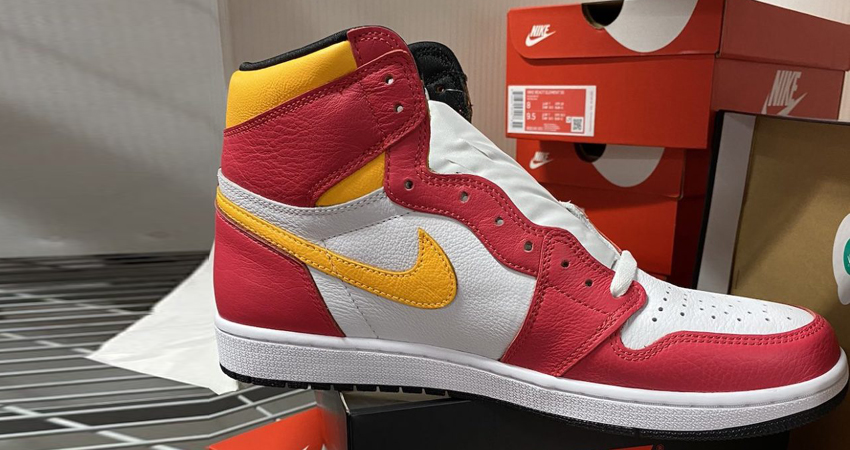 Release Details for Air Jordan 1 High Light Fusion Red White 03