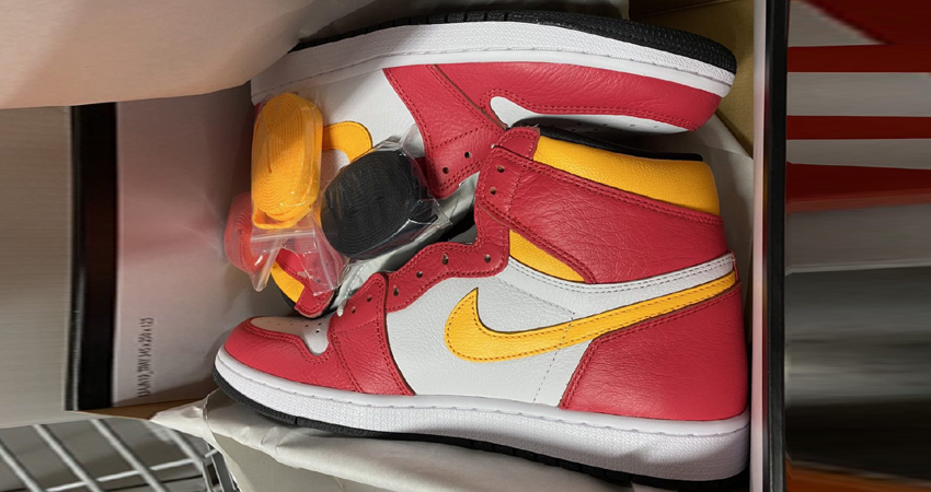 Release Details for Air Jordan 1 High Light Fusion Red White 04