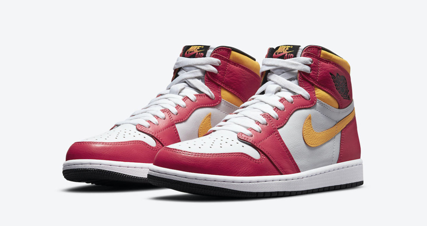 Release Details for Air Jordan 1 High Light Fusion Red White featured image