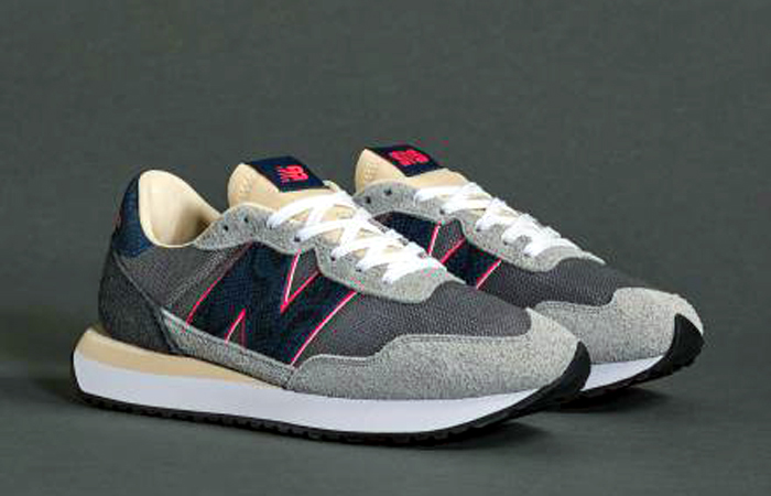 SNS New Balance 237 Snakeskin Grey MS237NS front right corner