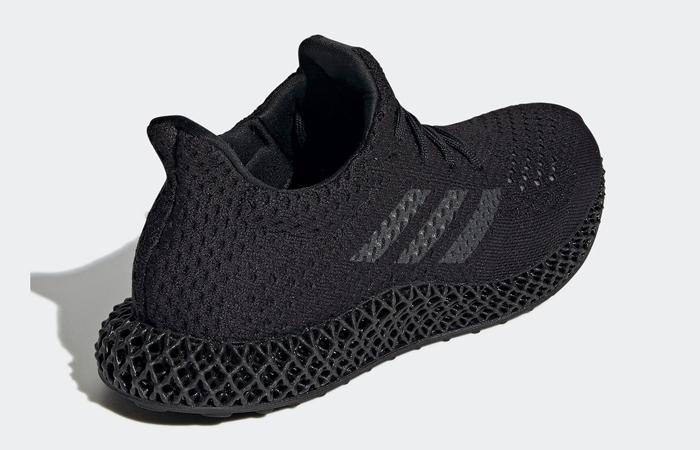 adidas Futurecraft 4D Triple Black Q46228 back corner
