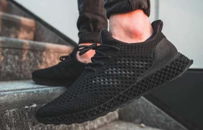 adidas Futurecraft 4D Triple Black Q46228 on foot 02