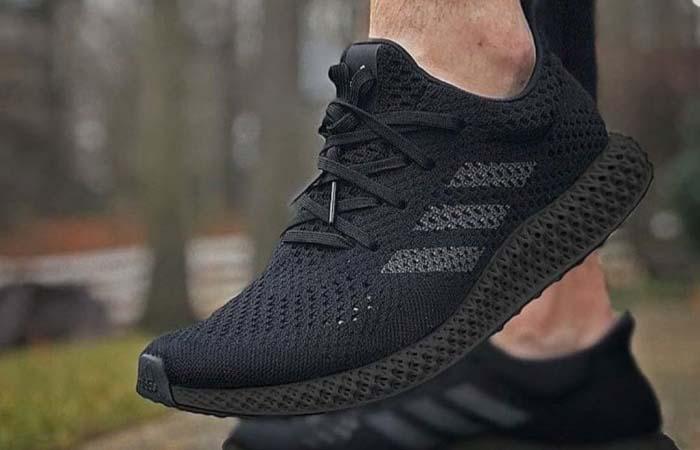 adidas Futurecraft 4D Triple Black Q46228 on foot 03