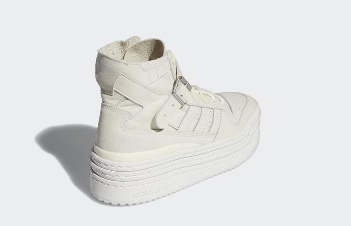 adidas Triple Platforum Hi Off White Womens S42803 back corner