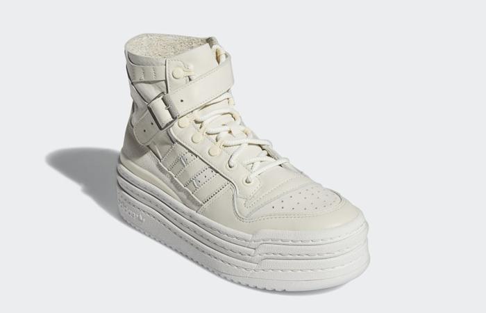 adidas Triple Platforum Hi Off White Womens S42803 front corner