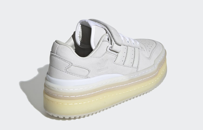 adidas Triple Platforum Lo Crystal White GZ8644 back corner