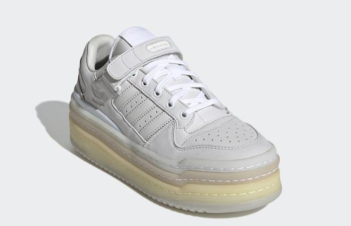 adidas Triple Platforum Lo Crystal White GZ8644 front corner