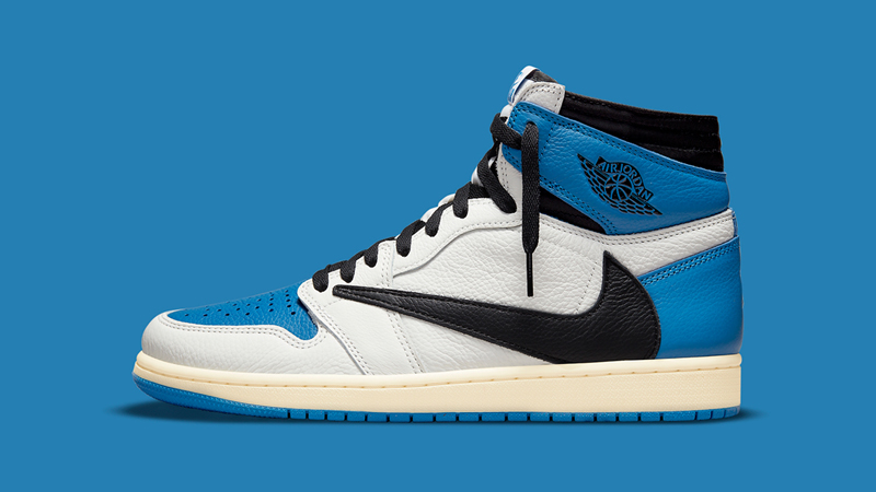 Detailed Look at Travis Scott Fragment Air Jordan 1 Military Blue 01