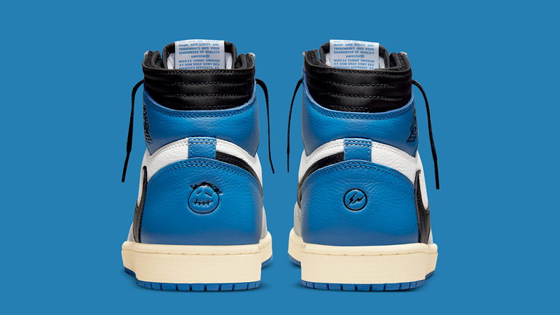 Detailed Look at Travis Scott Fragment Air Jordan 1 Military Blue 04