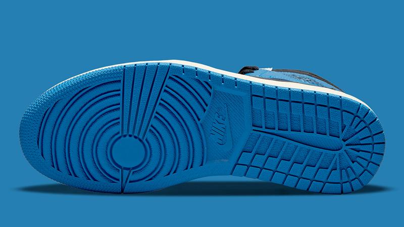 Detailed Look at Travis Scott Fragment Air Jordan 1 Military Blue 05