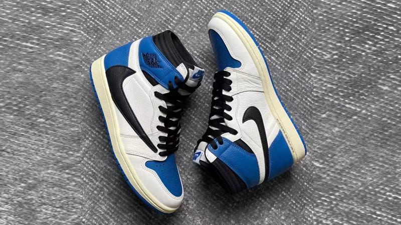 Detailed Look at Travis Scott Fragment Air Jordan 1 Military Blue 06