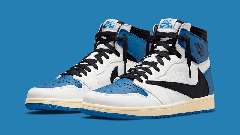 Detailed Look at Travis Scott Fragment Air Jordan 1 Military Blue featured image