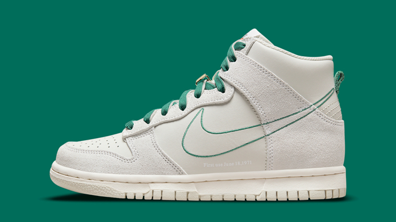 First Look at Nike Dunk High First Use Sail Green 01