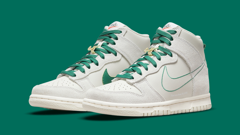 First Look at Nike Dunk High First Use Sail Green featured image