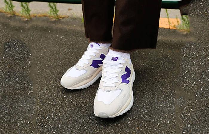 New Balance M5740 Sea Salt Purple onfoot 01
