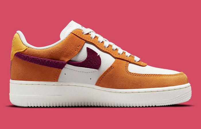 Nike Air Force 1 LXX Orange Maroon Womens DQ0858-100 right