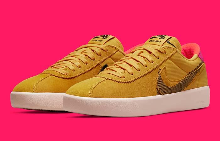 Nike SB Bruin React Rawdacious Pollen CV5980-700 front corner