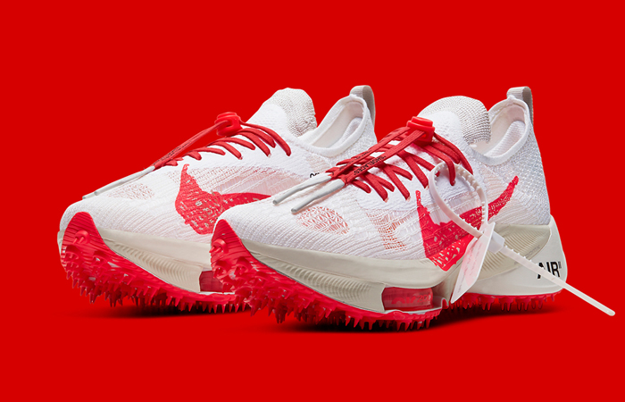 Off-White Nike Air Zoom Tempo NEXT% White CV0697-100 front corner
