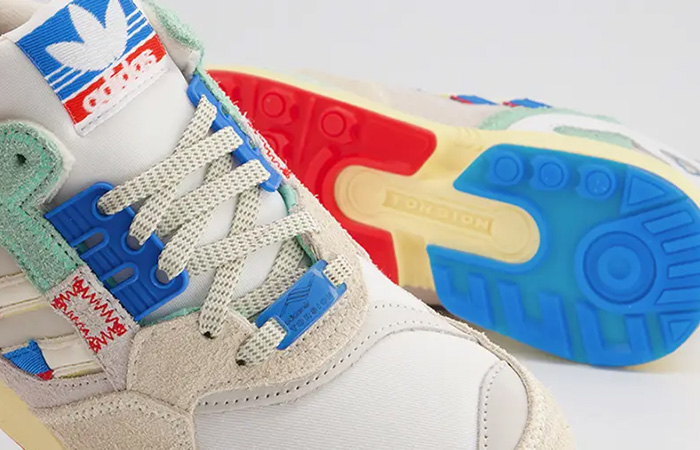 Offspring adidas ZX 9000 London White Blue up zoom