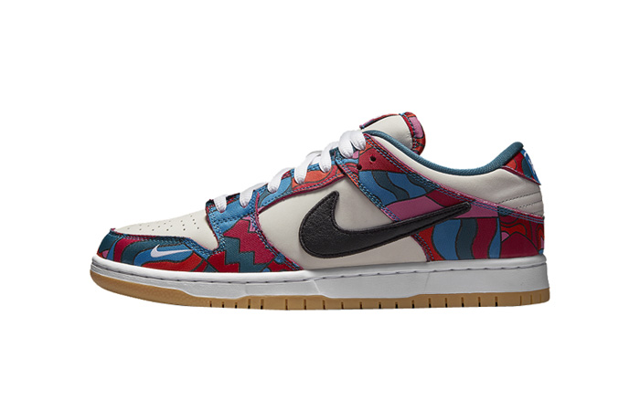 Parra Nike SB Dunk Low White Fireberry DH7695-600 featured image