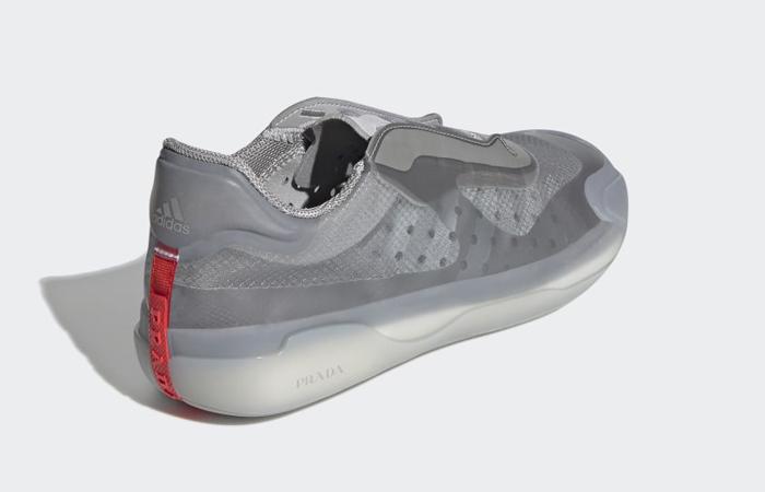 Prada adidas Luna Rossa 21 Grey FW1079 back corner