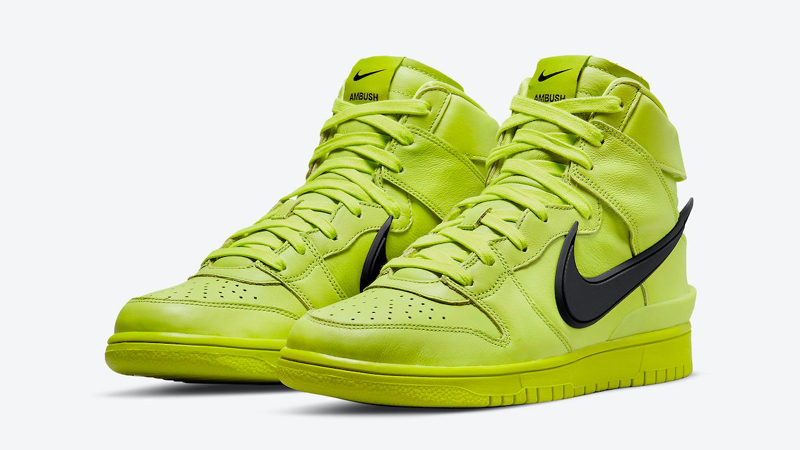 Release Details for Ambush Nike Dunk High Atomic Green Womens featured image