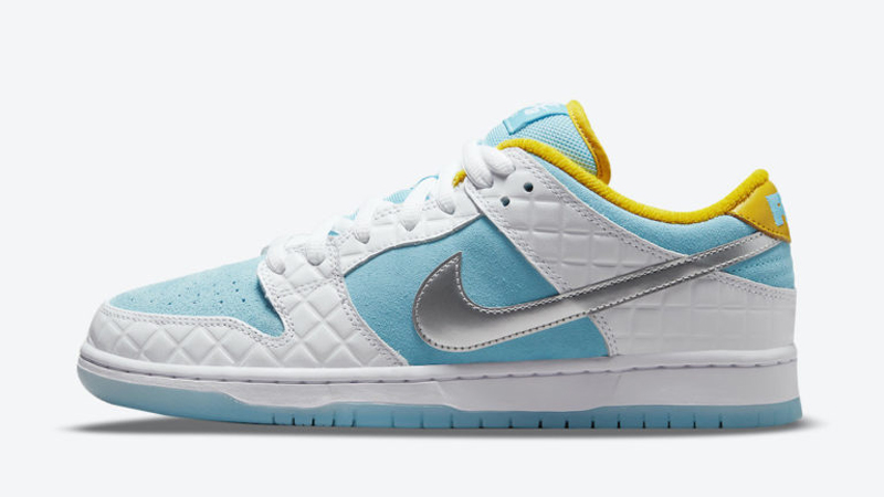 Release Details for FTC Nike SB Dunk Low White Lagoon Pulse 01