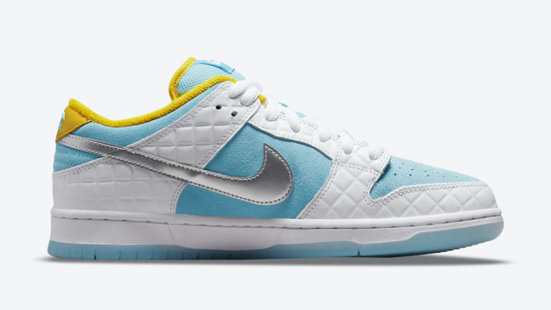 Release Details for FTC Nike SB Dunk Low White Lagoon Pulse 02