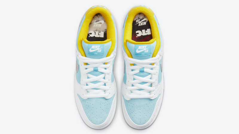 Release Details for FTC Nike SB Dunk Low White Lagoon Pulse 03