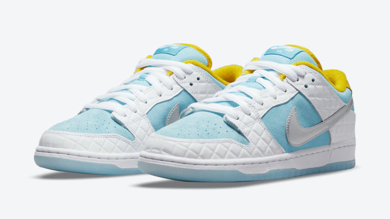 Release Details for FTC Nike SB Dunk Low White Lagoon Pulse featured image