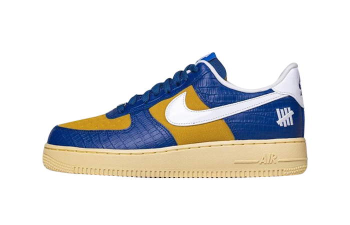 Undefeated Nike Air Force 1 Low Blue Croc DM8462-400 featured image