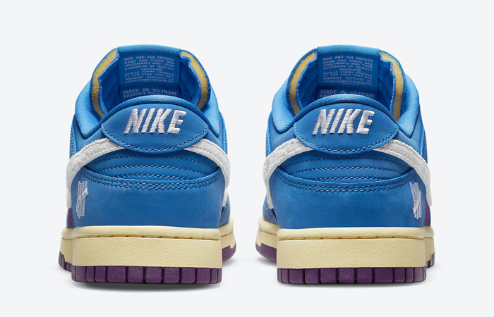Undefeated Nike Dunk Low Dunk Blue DH6508-400 back