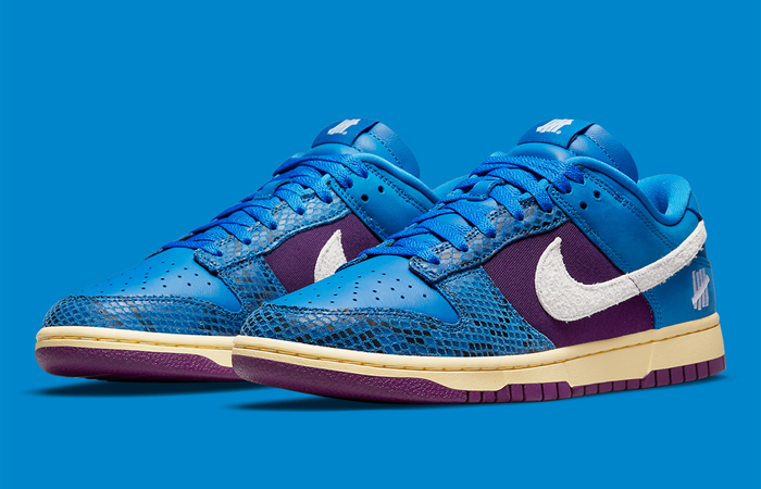 Undefeated Nike Dunk Low Dunk Blue DH6508-400 front corner