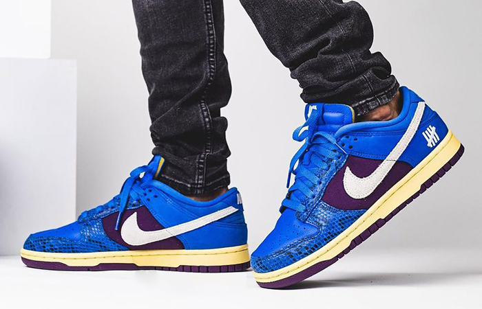 Undefeated Nike Dunk Low Dunk Blue DH6508-400 on foot 01