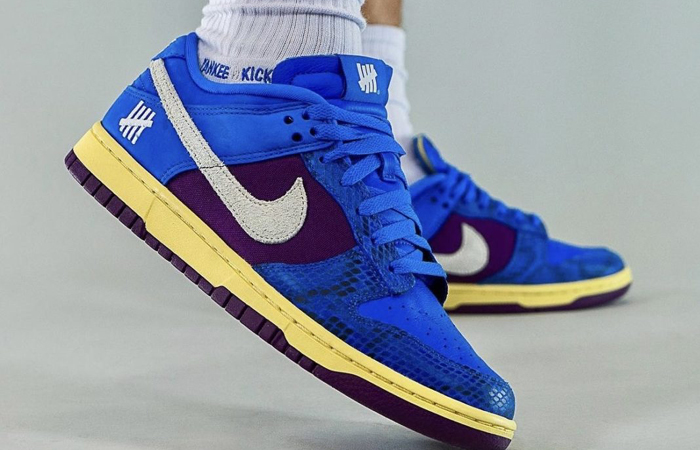 Undefeated Nike Dunk Low Dunk Blue DH6508-400 on foot 02