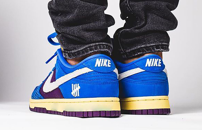 Undefeated Nike Dunk Low Dunk Blue DH6508-400 on foot 03