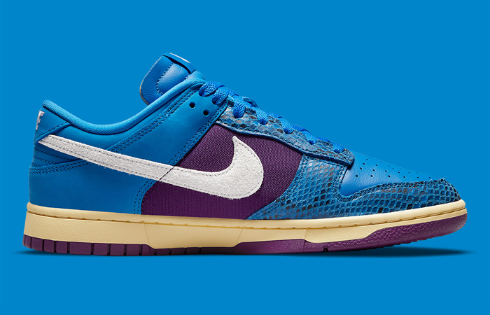 Undefeated Nike Dunk Low Dunk Blue DH6508-400 right