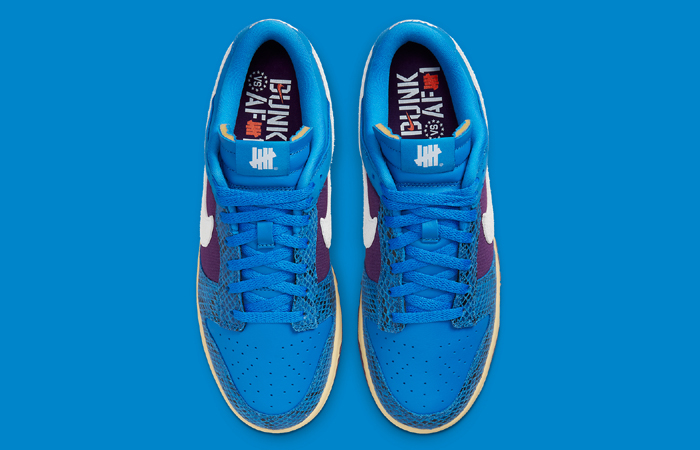 Undefeated Nike Dunk Low Dunk Blue DH6508-400 up