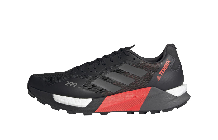 adidas Terrex Agravic Ultra Trail Black Solar Red FY7628 featured image