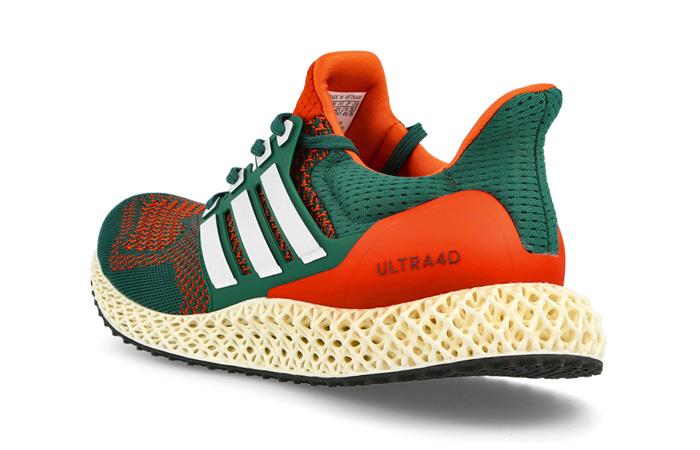 adidas Ultra 4D Miami Green Orange Q46439 back corner