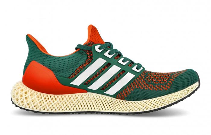 adidas Ultra 4D Miami Green Orange Q46439 right