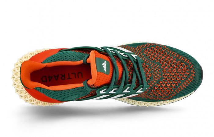 adidas Ultra 4D Miami Green Orange Q46439 up