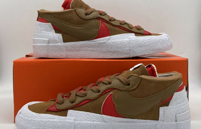 sacai Nike Blazer Low Light British Tan DD1877-200 01