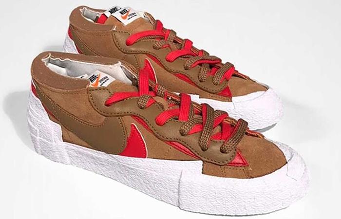 sacai Nike Blazer Low Light British Tan DD1877-200 front corner