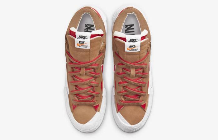 sacai Nike Blazer Low Light British Tan DD1877-200 up