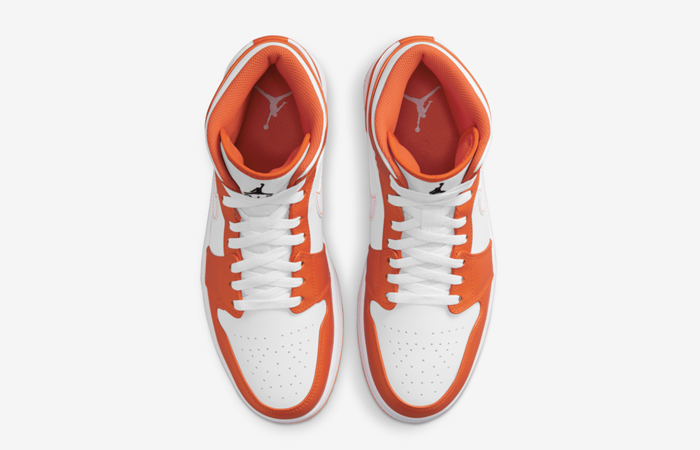 Air Jordan 1 Mid Electro Orange DM3531-800 up