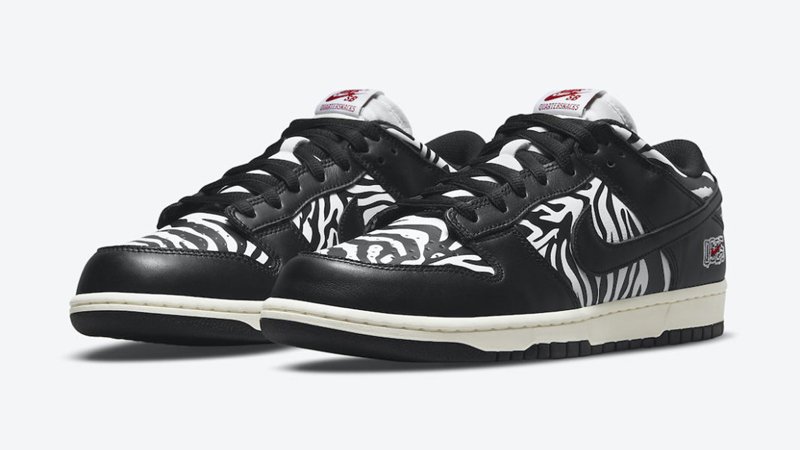 Detailed Look at Quartersnacks Nike SB Dunk Low Black White featured image