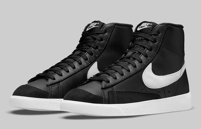 Nike Blazer Mid 77 Next Nature Black DO1344-001 front corner