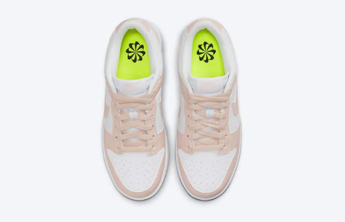 Nike Dunk Low White Soft Pink DD1873-100 up
