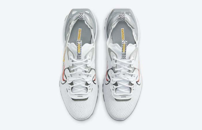 Nike React Vision White Smoke Grey DM9095-101 up